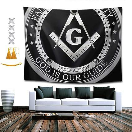 Amazon com: TERPASTRY Tapestry Wall Hanging Masonic Faith