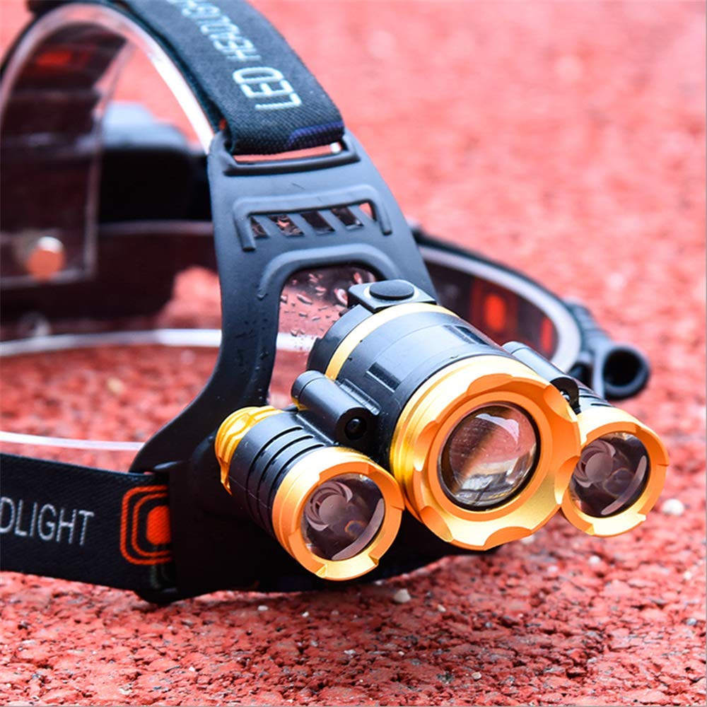 Vacio USB Rechargeable Headlamp Flashlight Light, Zoomable LED Headlamp with 4 Lighting Models Waterproof Headlamp Flashlight Light, Such as Hunting, Cycling, Working, Fishing, Camping Headlight by Vacio (Image #3)