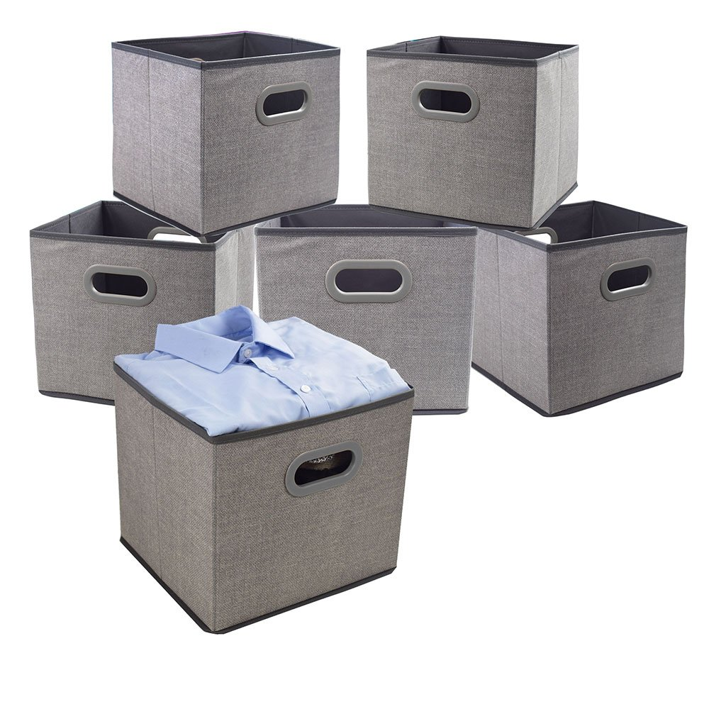 New Non Woven Fabric Folding Underwear Storage Box Bedroom: Cloth Storage Bins Cubes Boxes Fabric Baskets Containers