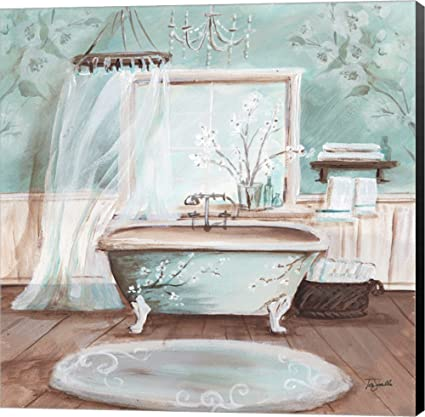 Amazon.com: Aqua Blossom Bath II by Tre Sorelle Studios Canvas Art on sesame street home, sherry kline home, baby einstein home, kathy ireland home, warner bros. home, barney and friends home, disney home, laugh and learn home, loving family home, the simpsons home, the wiggles home, eileen fisher home, eddie bauer home, dillard's home,