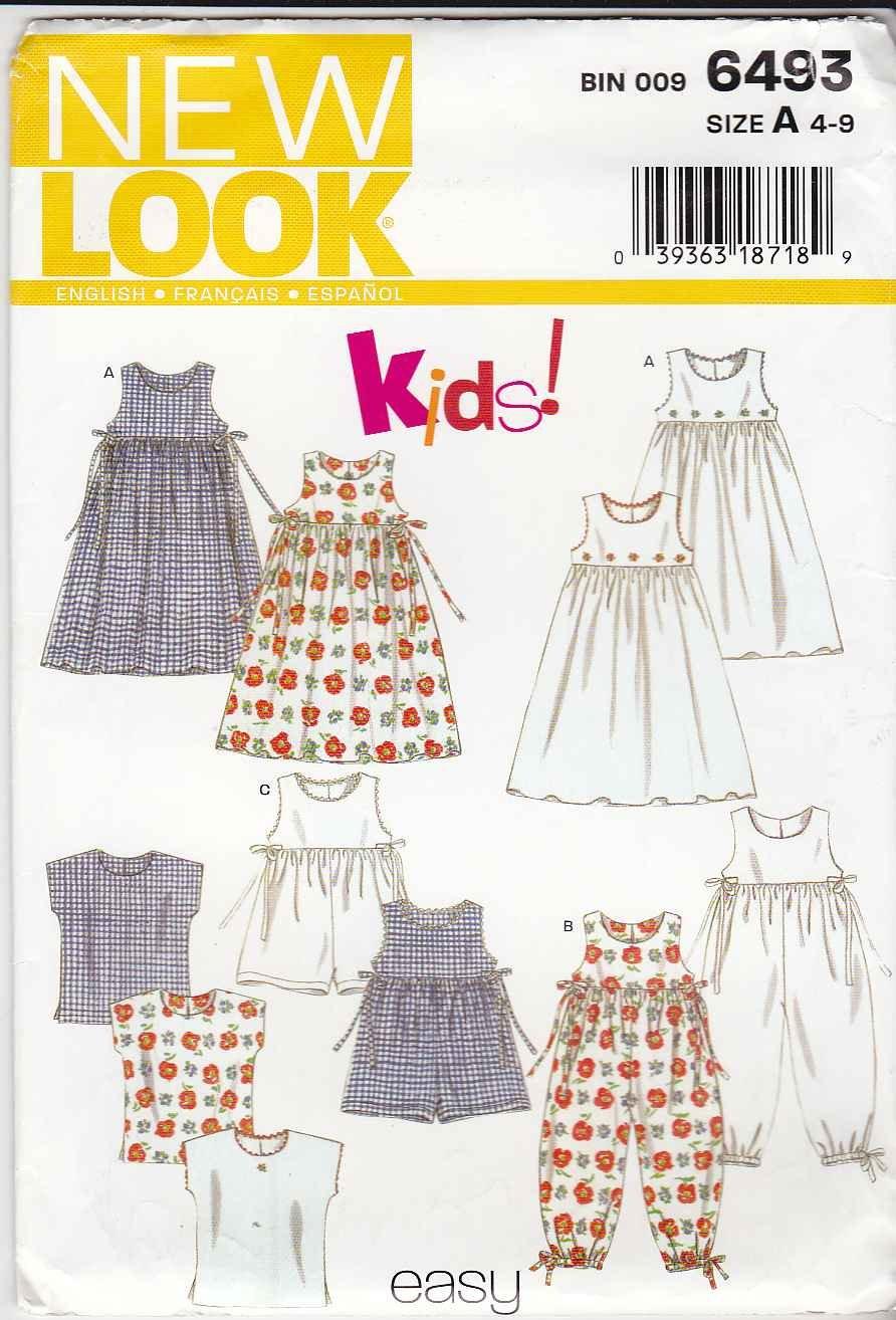 4965bc7c057 Amazon.com  New Look 6493  Girls Dress or Romper