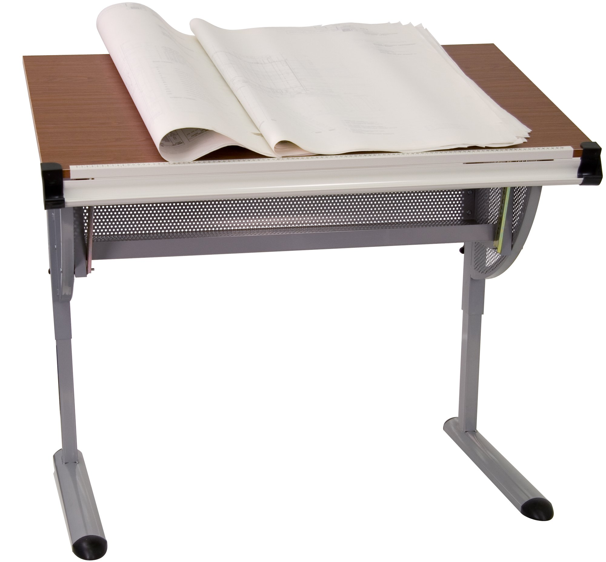 Flash Furniture Adjustable Drawing and Drafting Table with Pewter Frame by Flash Furniture