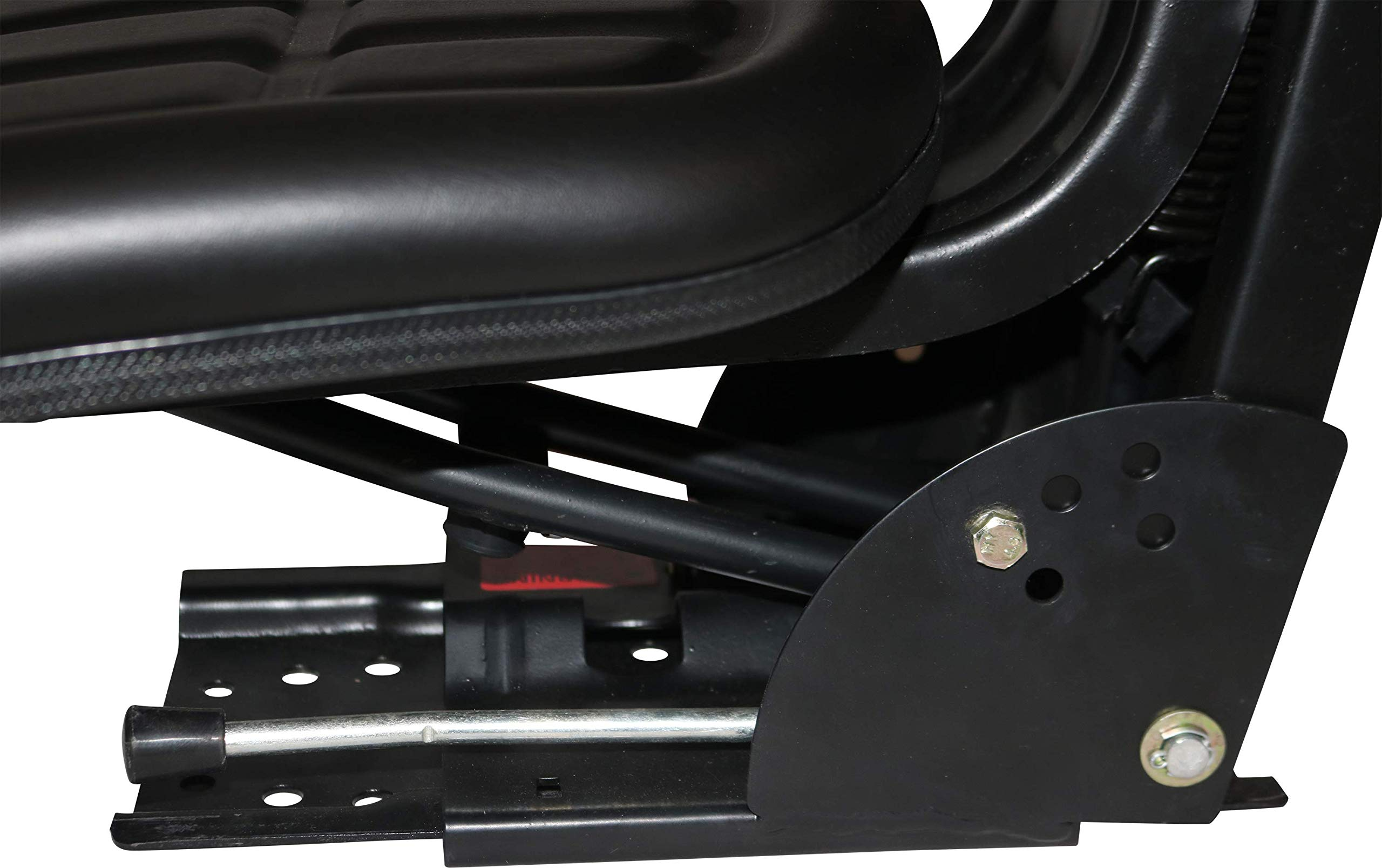 Black TRAC SEATS Brand Waffle Style Universal Tractor Suspension SEAT with TILT FITS International Harvester IH 674 684 685 (Same Day Shipping - Delivers in 1-4 Business Days)