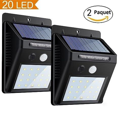 Actualizado del Solar Luces 20 LED Inalámbrico Sensor de Movimiento Exteriores Iluminación Lámpara Luz de Seguridad