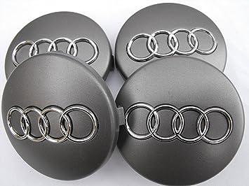 IGGY 4 Tapacubos fregi Audi 60 mm A3 A4 A6 S4 RS3 S Tachuelas Tapones Círculos de Aleación: Amazon.es: Coche y moto