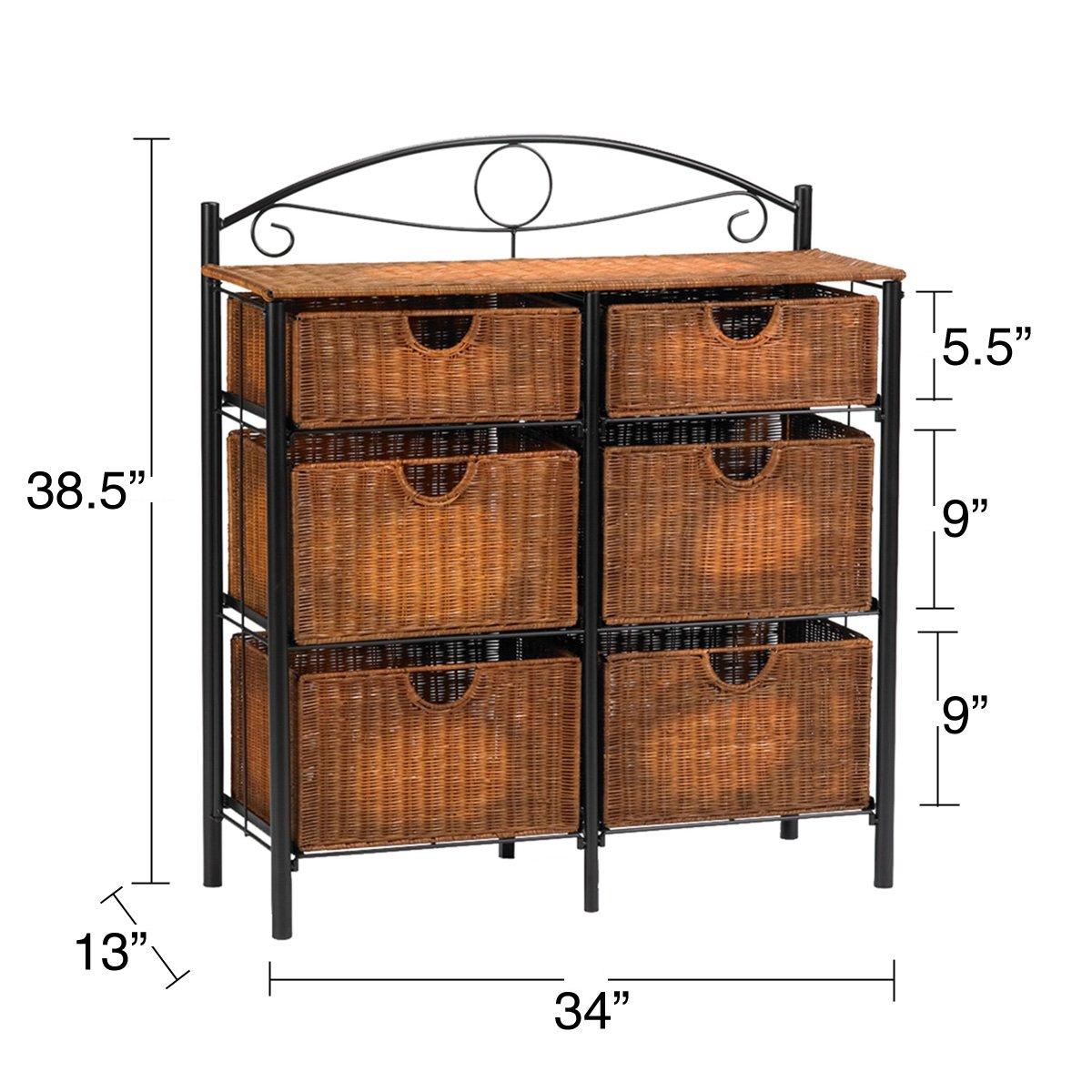 Harper Blvd Wicker 6-drawer Storage Chest
