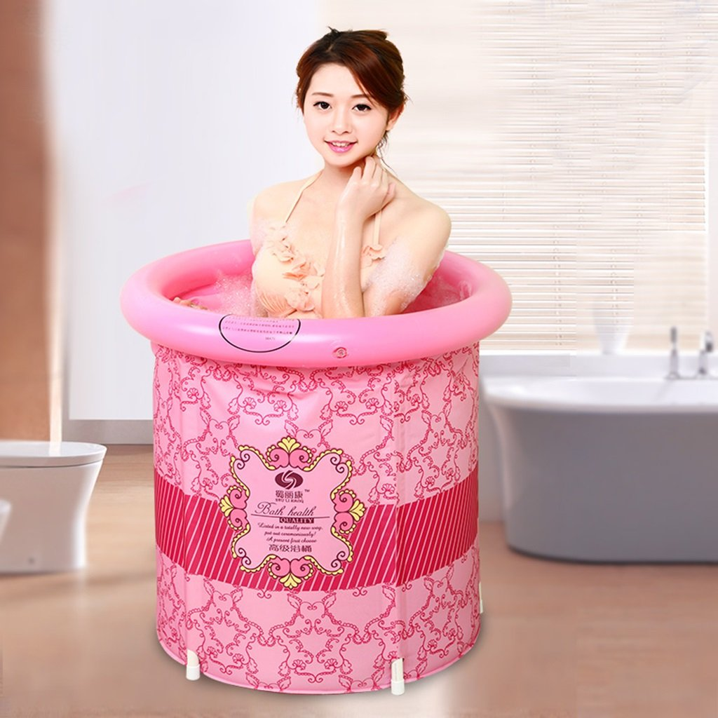 Sunhai& Bathtub Adult Bathtub Inflatable Bathtub Thickening Plastic Folding Bath Tub Washing Basin Child Bathing Bucket