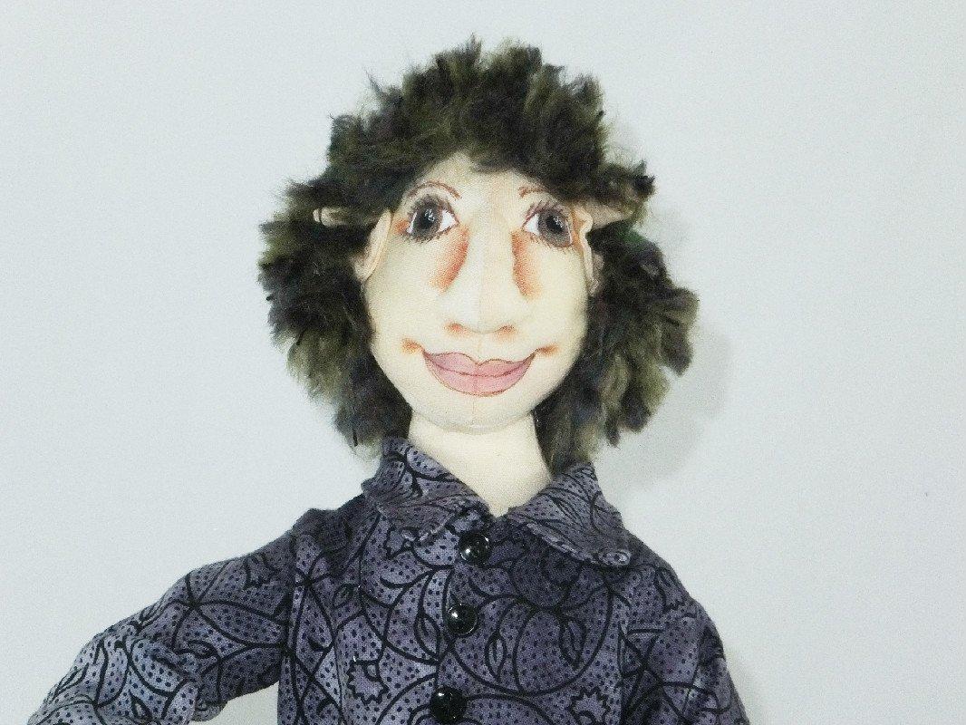 OOAK Doll Collector Doll Larry the Elf Art Doll Cloth Doll Elf Handmade Doll