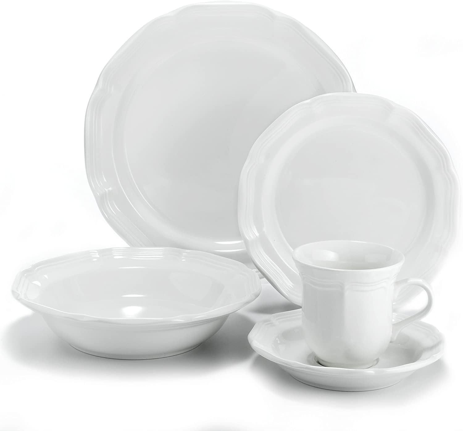 Mikasa French Countryside 40-Piece Dinnerware Set, Service for 8