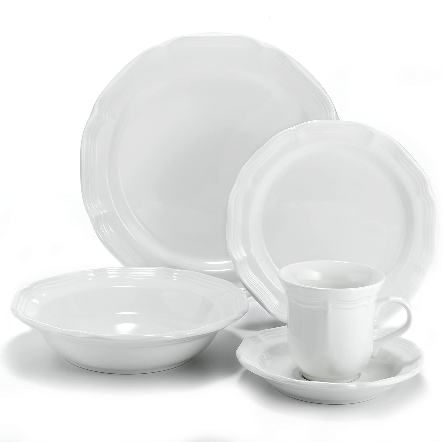 Amazon.com Mikasa French Countryside 5-Piece Place Setting Dinnerware Sets Kitchen u0026 Dining  sc 1 st  Amazon.com & Amazon.com: Mikasa French Countryside 5-Piece Place Setting ...