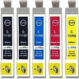 Go Inks E-715/711 Lot de 5 Cartouches d'encre pour Imprimante Multi-Pack (Noir, Cyan, Magenta, Jaune)