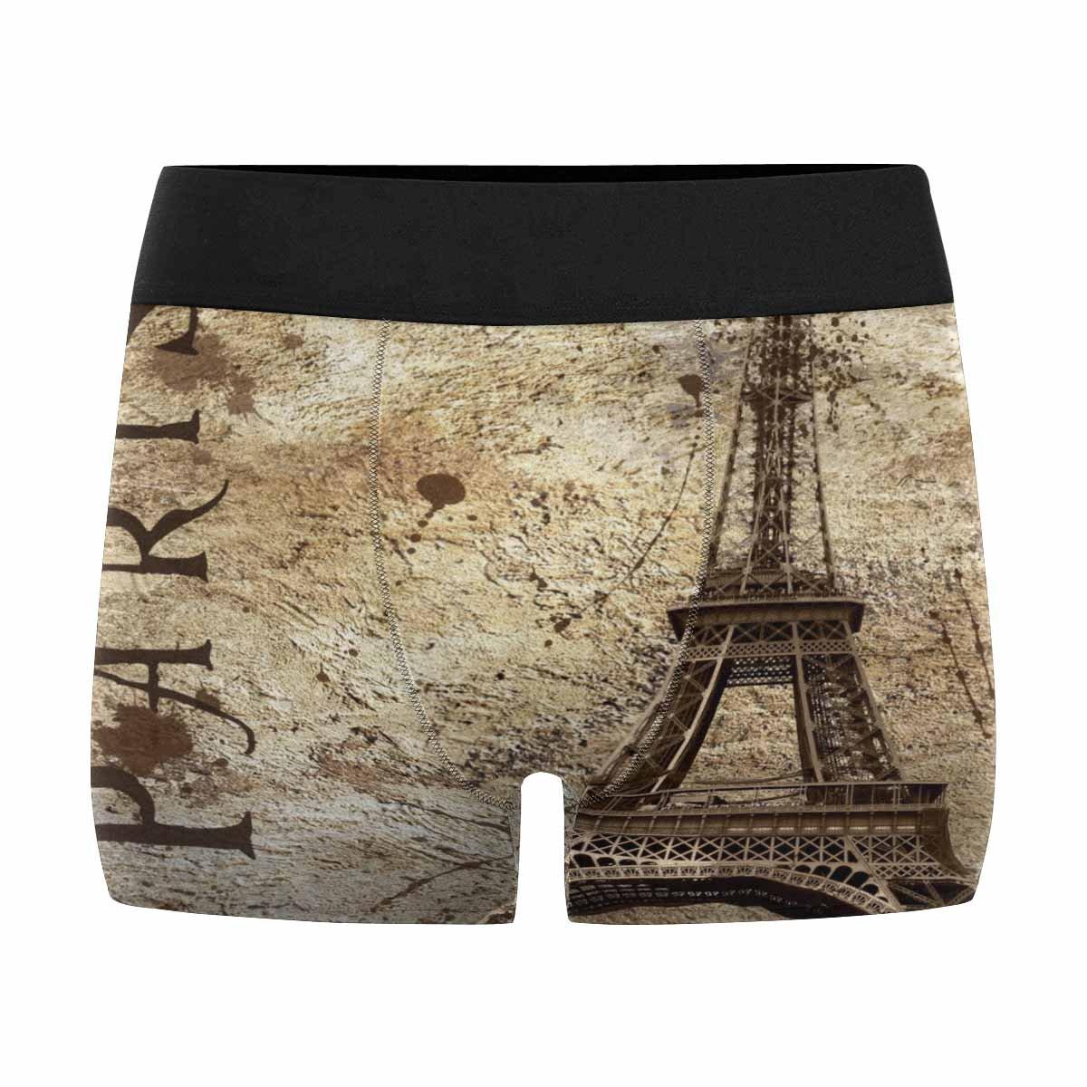 XS-3XL INTERESTPRINT Mens Boxer Briefs Underwear Vintage View of Paris