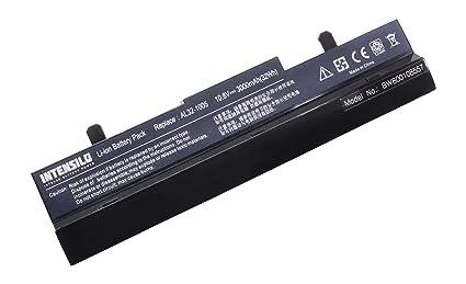INTENSILO Li-Ion batería 3000mAh (10.8V) negro para Notebook ordenador portátil Asus