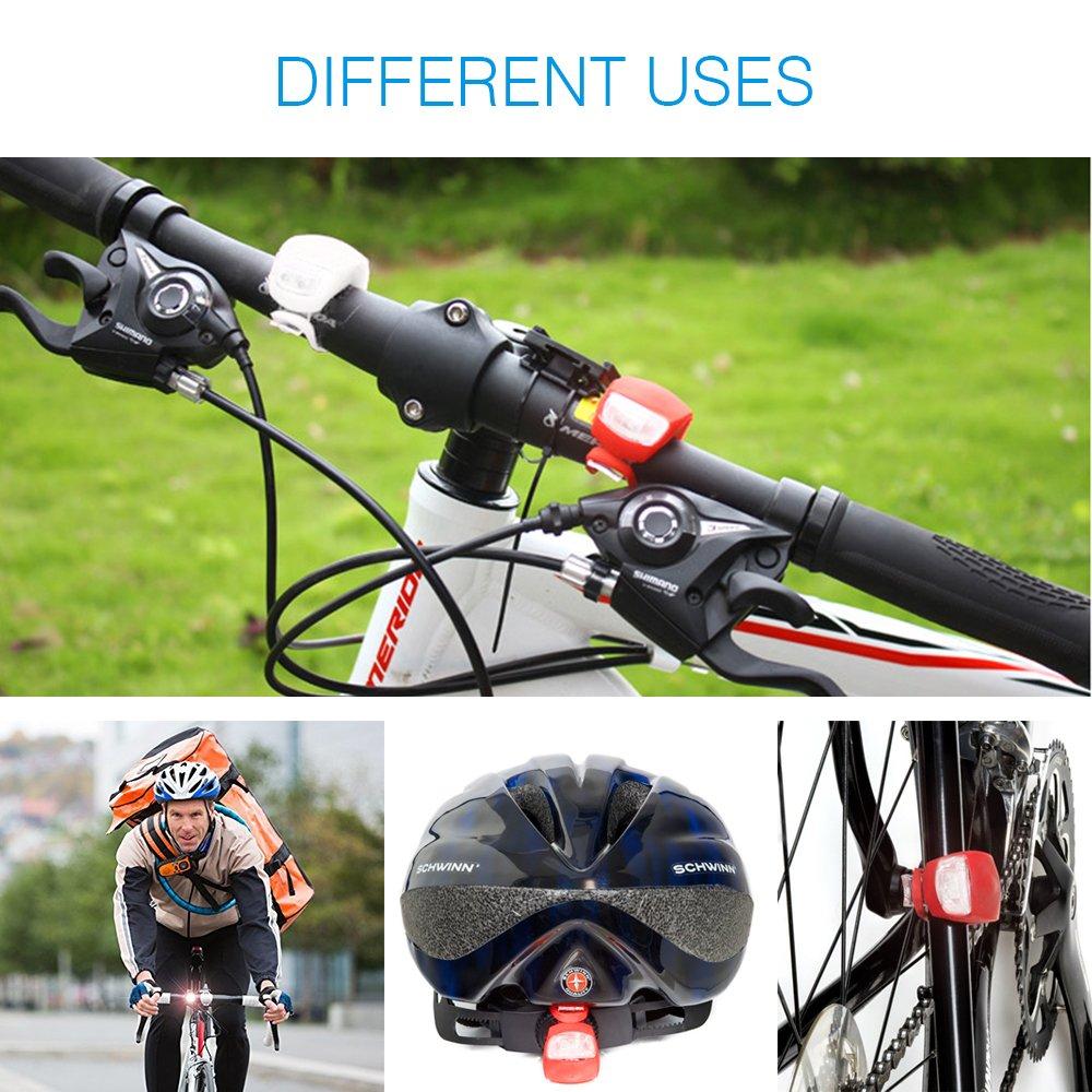 Infreecs Fahrradlicht LED Set Silikon Leuchte Fahrradlampe, LED ...