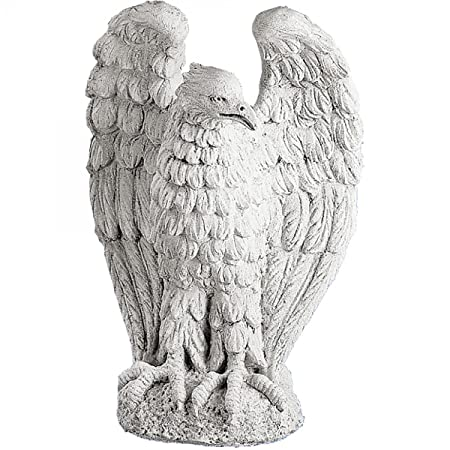 Eagle Statue Garden Ornament Made From Concrete Stone Garden Stone Garden  Statue Figurine Figure Sculpture