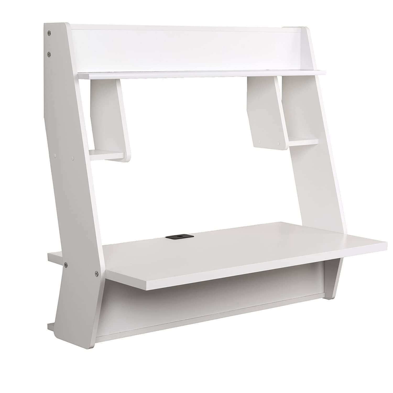 prepac BEHW-0902-1 Compact Hanging Desk - Black Prepac Manufacturing Ltd.