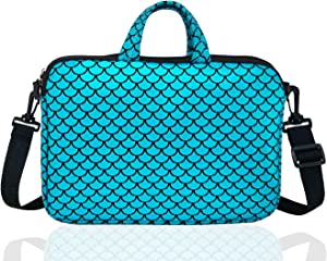 """17.3-Inch Laptop Shoulder Carrying Bag Case Sleeve For 17"""" 17.3 inch HP DELL (Blue)"""