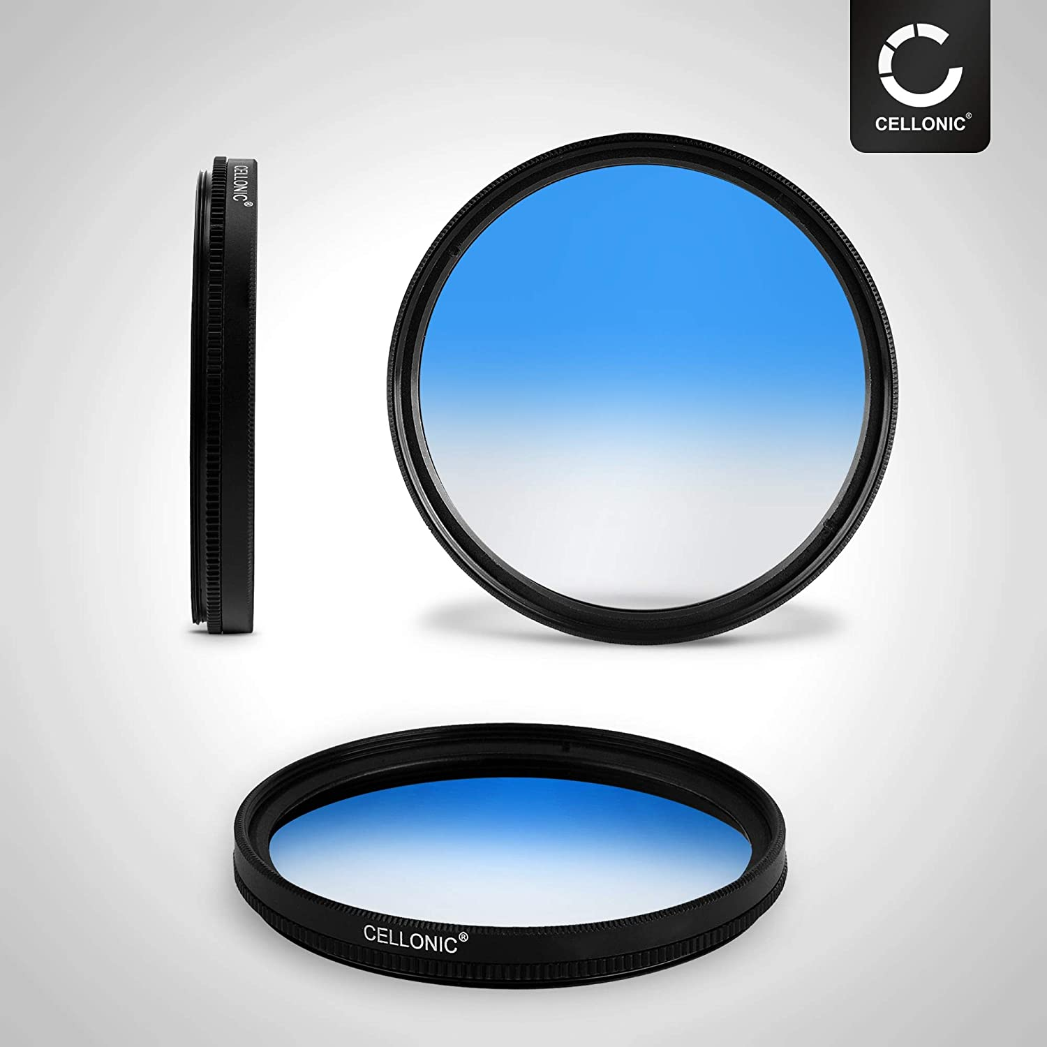 CELLONIC Graduated color filter Blue compatible with Tokina 55mm Gradient Filter