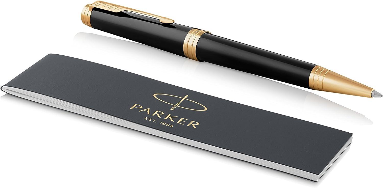 Parker Premier Ballpoint Pen Medium Point Black Ink Refill Luxury Gold Trim