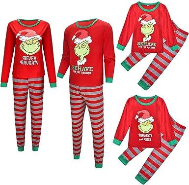 TLLW Pijamas de Navidad Familiar de Navidad Familiar de ...