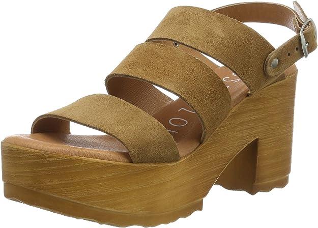 Sandalias con Plataforma para Mujer Marrón