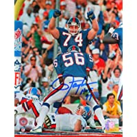 $85 » Lawrence Taylor Autographed NY Giants 8X10 Sack FP Photo w/HOF- Beckett W Blue