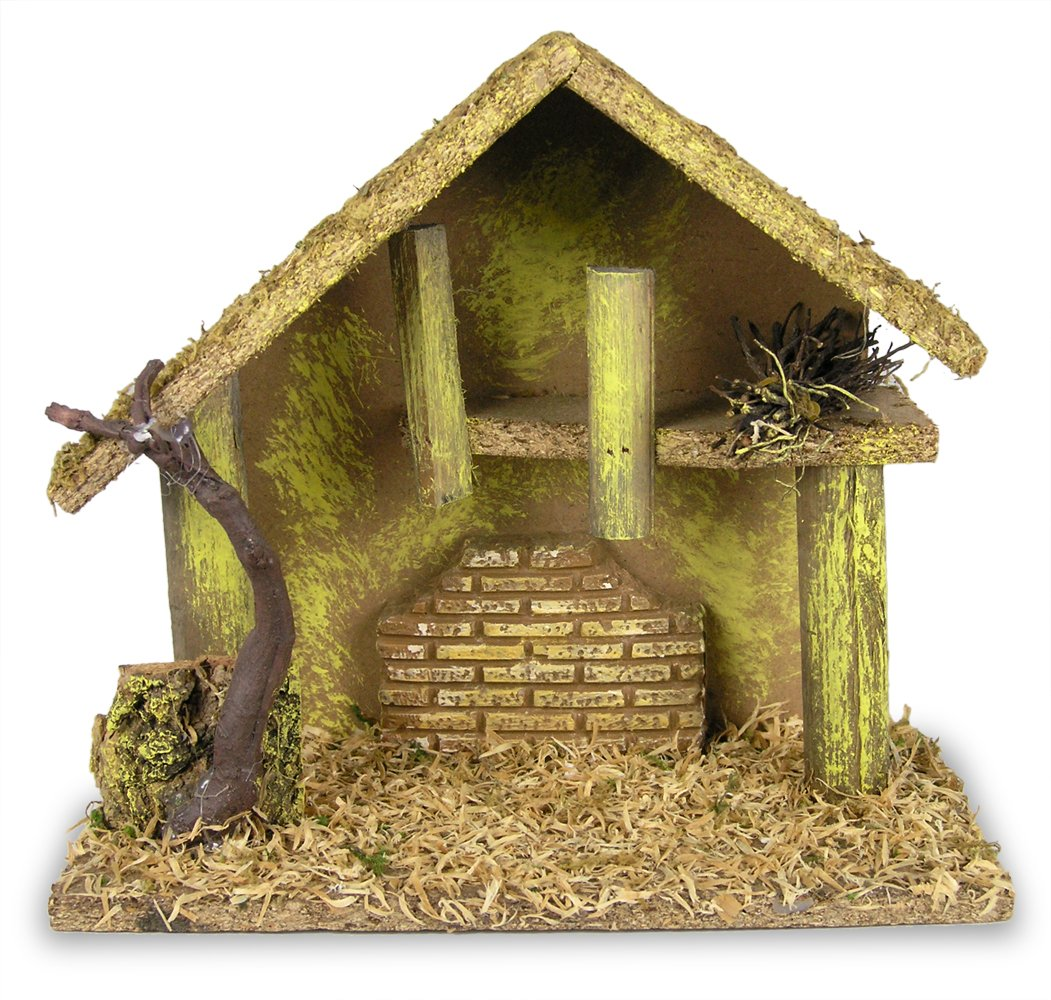 amazon com nativity creche medium nativity stable covered with