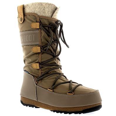 4d4d6d92e8c308 Moon-boot Damen W.e. Monaco Felt Wp Schneestiefel  Amazon.de  Schuhe    Handtaschen