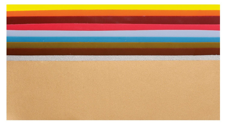 Glorex 68616003fogli cerati piastre colorato, 200x 40mm, 20pezzi, colori assortiti 6 8616 003
