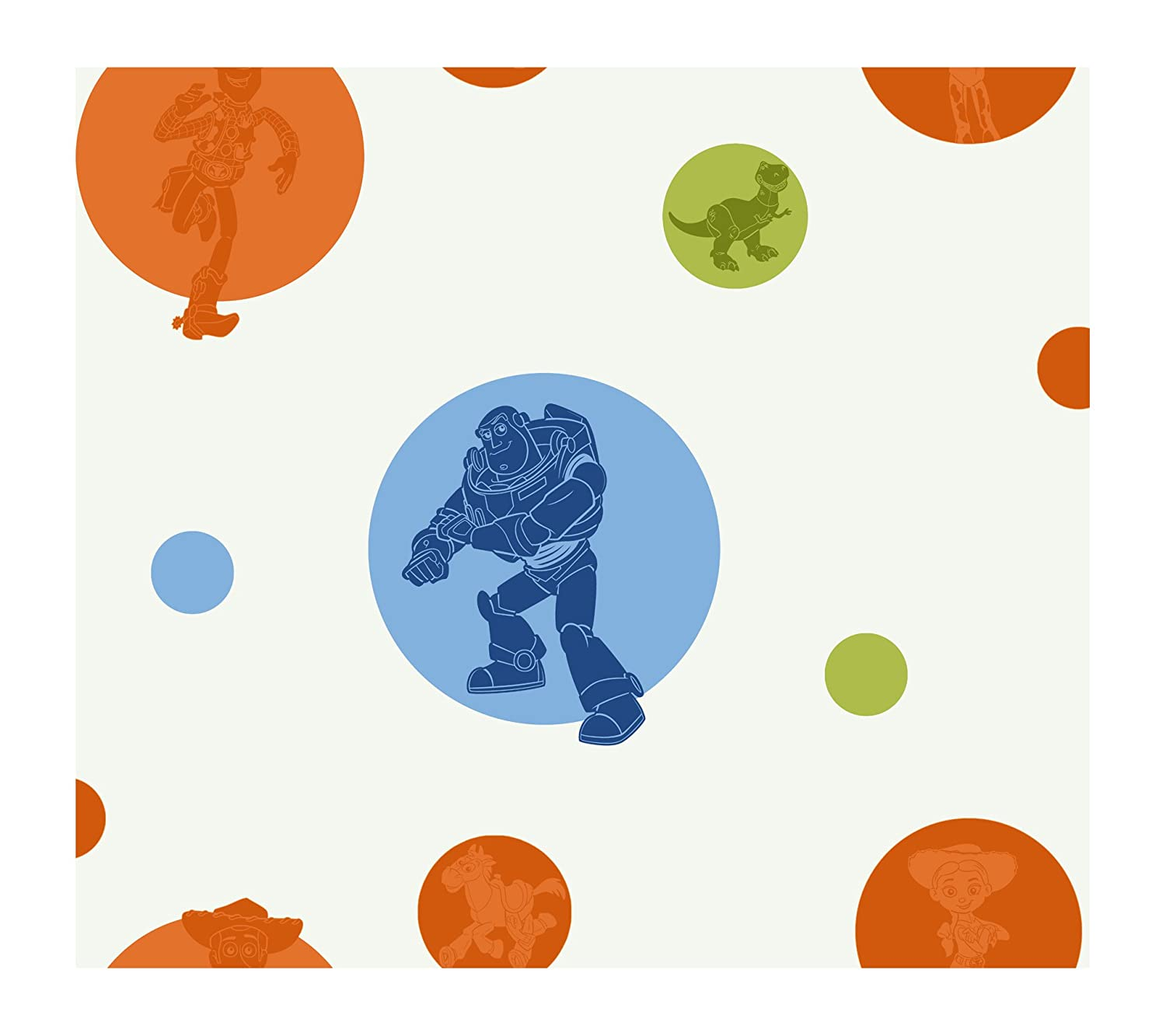 8-Inch x 10-Inch York Wallcoverings DK5827SMP Disney Kids Toy Story Circles /& Silhouettes Wallpaper Memo Sample