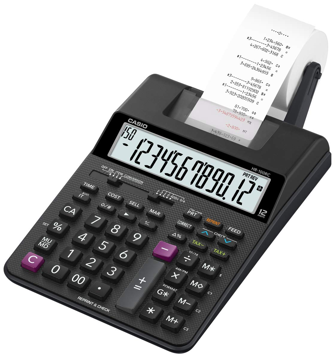 Casio HR-100RC Mini Desktop Printing Calculator, New (HR-100RC) by Casio