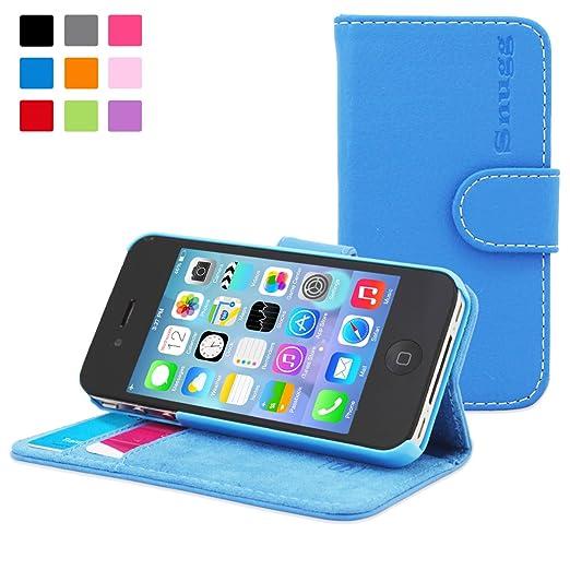 30 opinioni per Snugg- Custodia Blu A Libretto In Ecopelle Con Garanzia A Vita Per Apple Iphone