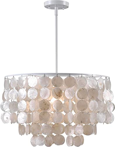 Kenroy Home 93409WH Casual 1 Light Pendant ,13 Inch Height