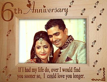Buy tiedribbons 6th wedding anniversary gift wife photo frame 6.8