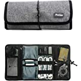 ProCase Accessories Bag Organizer, Universal Electronics Travel Gadgets Carrying Case Pouch for Charger USB Cables SD…
