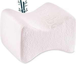 Dreamzie Memory Foam Knee Pillow for Side Sleepers - with Bamboo Cover - Knee Leg Pillow for Hip, Lower, Back Support, Sciatica Pain Relief, Pregnancy Pillow - Memory Foam Pillow - Orthopedic Pillow