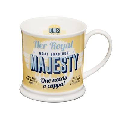 74d1382845c H H Diner Style Mugs - Personalised Mugs - Her Royal Majesty  Amazon.co.uk   Kitchen   Home