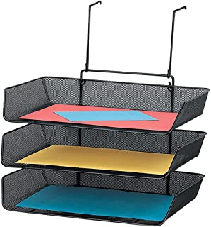 fellowes mesh partition additions triple tray side load letter size black 75902 black modern metal hanging office cubicle