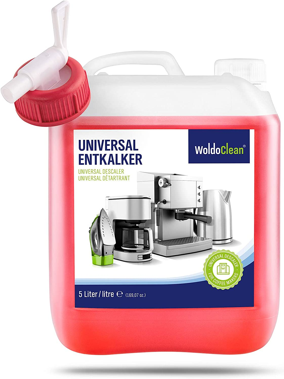 WoldoClean Descalcificador para cafetera Concentrado liquido 5 litros - Compatible con Marcas Delonghi Dolce Gusto Nespresso Seaco, Krups Senseo: Amazon.es: Hogar