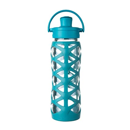 Lifefactory – Botella de Cristal con Tapa Active Flip Cap, Vidrio, Ultramarine,