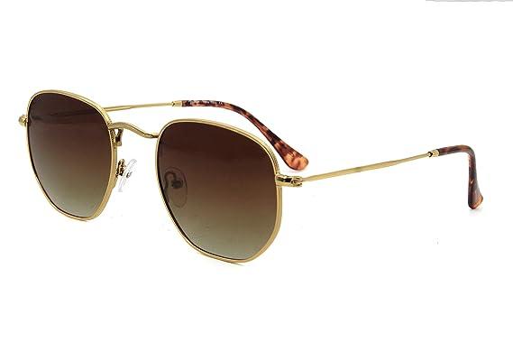 Richmode Herren Sonnenbrille Grün Gold Frame + Green Lens onesize Gr. Einheitsgröße, silber