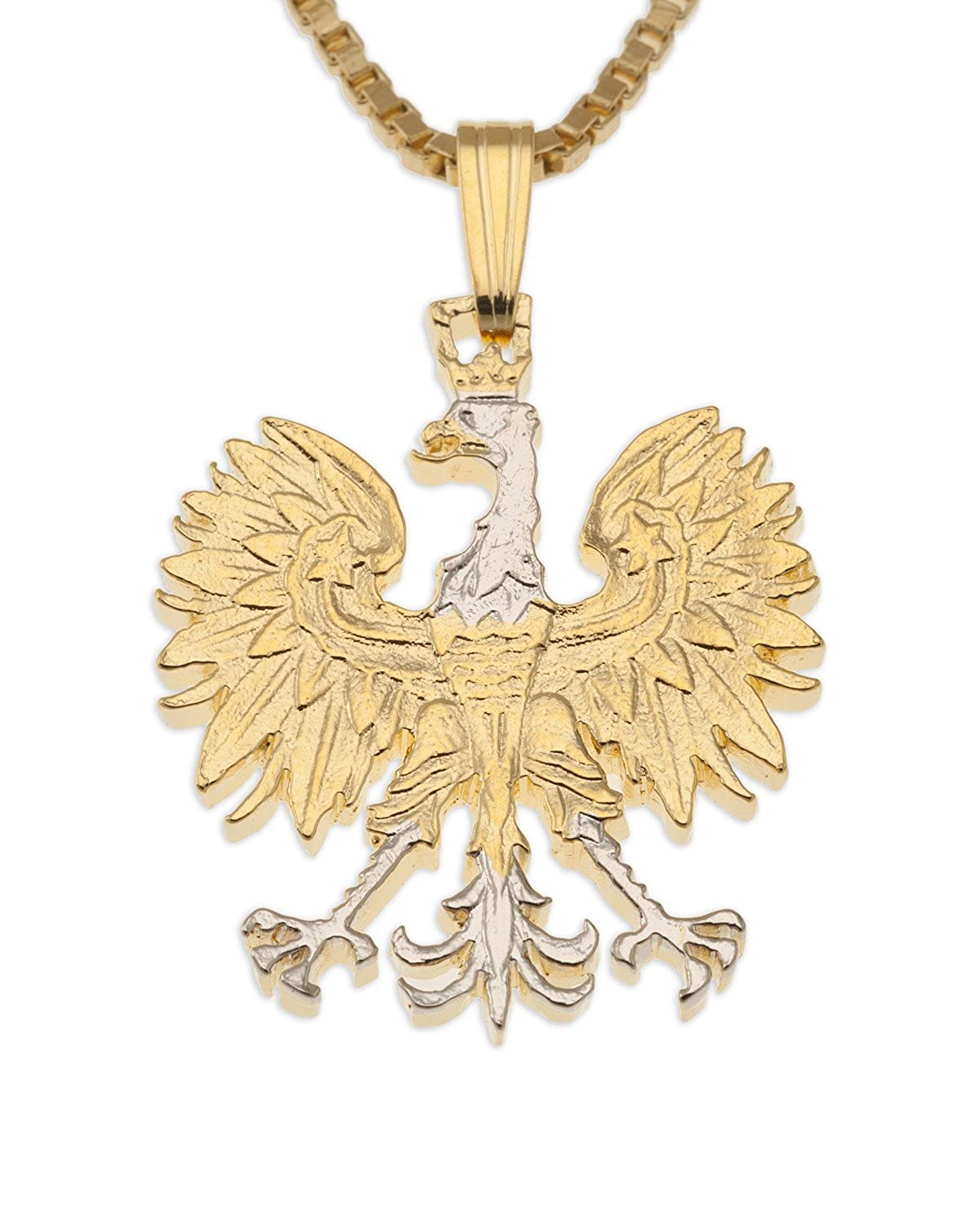 Polish eagle pendant necklace poland 10 zlotych hand cut coin polish eagle pendant necklace poland 10 zlotych hand cut coin amazon aloadofball Choice Image