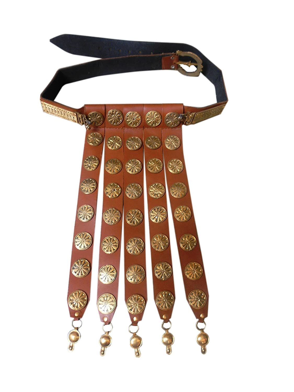 Wearable Costume Armor Roman Leather Apron Belt Brass Fittings Cingulum