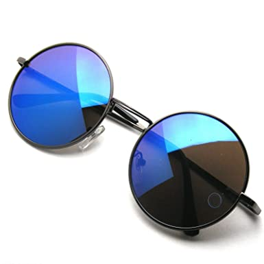 7699d4a9f68 Image Unavailable. Image not available for. Color  Round Sunglasses John  Lennon Style Retro Vintage Classic Circle ...