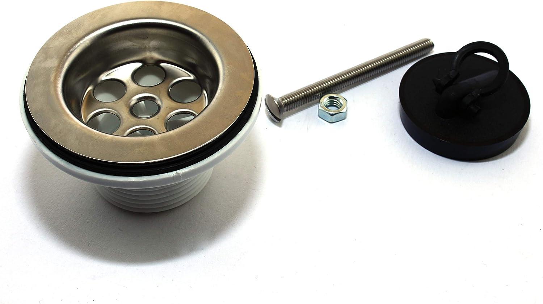 "Universal Stopfenventil 1 1//4/"" ø 60mm Universalventil chrom Abflussstopfen"