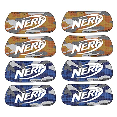 Unique Nerf Party Eye Black Sticker Party Favors, 8 Pairs: Toys & Games