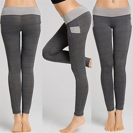 10b22448b5167 Womens Yoga Pants,YKA,Girl Patchwork Skinny Push Up Sport Casual Pants  Trousers Leggings For Ladies (M, Gray): Amazon.co.uk: Clothing