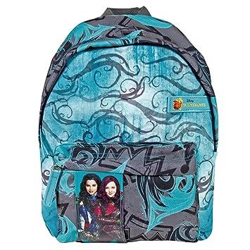 Perletti - Pequeña mochila con compartimiento frontal Los Descendientes, película de Walt Disney Pictures - 31 x 22 x 10 cm: Amazon.es: Equipaje