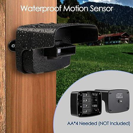 Garaje BITIWEND Detector de Movimiento de Entrada de Entrada Sensor de Alarma de Entrada inal/ámbrico Sensor de Movimiento de Entrada Alarma Detector Impermeable para casa Patio
