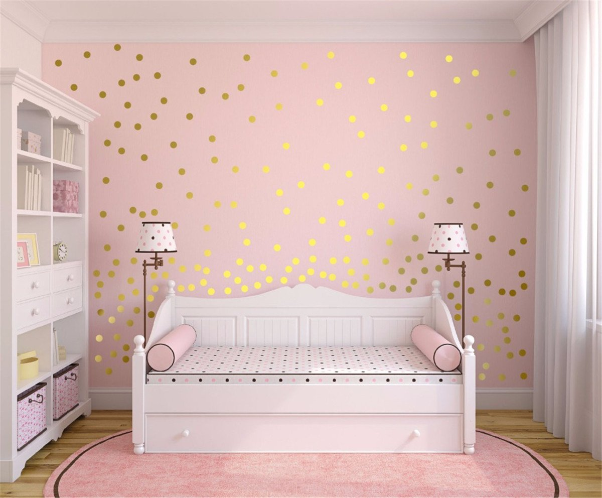 Wall Decal Dots Wall Stickers(40 pcs, 2')Polka Dot Circles Triangle Vinyl Lettering Decal Home Decor for Festive Baby Nursery Kids Room Trendy Cute Fun, Safe for Wall Paint Confetti(Black) Takefuns